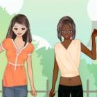 Играть Одевалка: наряжаем сестричек онлайн